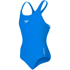 speedo Essential Endurance+ Medalist Swimsuit Girls, neon blue